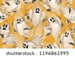 halloween seamless pattern.... | Shutterstock . vector #1196861995