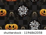 halloween seamless pattern.... | Shutterstock . vector #1196862058