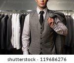 businessman in classic vest... | Shutterstock . vector #119686276
