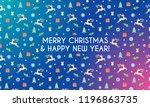 merry christmas banner. design... | Shutterstock .eps vector #1196863735