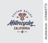 motorcycles california t shirt...   Shutterstock .eps vector #1196865772