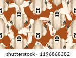 halloween seamless pattern.... | Shutterstock . vector #1196868382