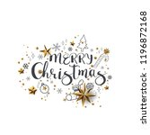 merry christmas calligraphic... | Shutterstock .eps vector #1196872168