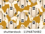 halloween seamless pattern.... | Shutterstock . vector #1196876482