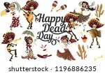 day of the dead people... | Shutterstock .eps vector #1196886235