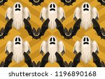 halloween seamless pattern.... | Shutterstock . vector #1196890168