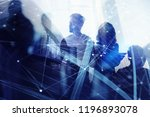 silhouette of business people... | Shutterstock . vector #1196893078