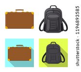 vector illustration of suitcase ... | Shutterstock .eps vector #1196893585