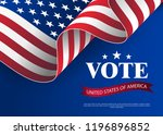 elections to us senate in 2018. ... | Shutterstock .eps vector #1196896852