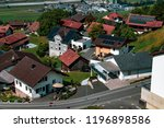 Triesenberg, Liechtenstein, 20th August 2018:- A view of Triesenberg in central Liechtenstein. Triesenberg is the largest municipality in Liechtenstein at 30 square kilometres. - stock photo