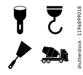 set of 4 simple vector icons... | Shutterstock .eps vector #1196899018