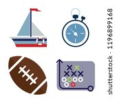 set of 4 simple vector icons... | Shutterstock .eps vector #1196899168