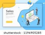 isometric flat vector concept... | Shutterstock .eps vector #1196905285