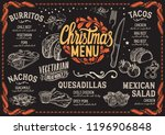 christmas menu template for... | Shutterstock .eps vector #1196906848