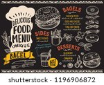 bagel menu template for... | Shutterstock .eps vector #1196906872