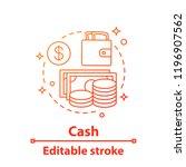 cash concept icon. money.... | Shutterstock .eps vector #1196907562