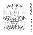 banner of coffee with... | Shutterstock .eps vector #1196908588
