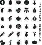 solid black flat icon set beet... | Shutterstock .eps vector #1196911762