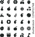 solid black flat icon set a... | Shutterstock .eps vector #1196911768