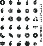 solid black flat icon set... | Shutterstock .eps vector #1196911828