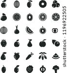 solid black flat icon set... | Shutterstock .eps vector #1196922505
