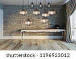 modern interior decoration... | Shutterstock . vector #1196923012