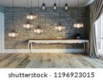 modern interior decoration... | Shutterstock . vector #1196923015