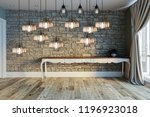 modern interior decoration... | Shutterstock . vector #1196923018