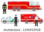 emergency concept. detailed...   Shutterstock .eps vector #1196923918
