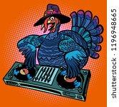 thanksgiving turkey character.... | Shutterstock .eps vector #1196948665
