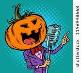 halloween pumpkin character...   Shutterstock .eps vector #1196948668