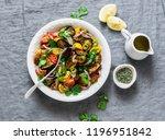 mediterranean style baked... | Shutterstock . vector #1196951842