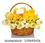 Beautiful Tulips In Basket...