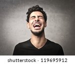 guy laughing | Shutterstock . vector #119695912