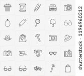 archeology line icon set with... | Shutterstock .eps vector #1196960212
