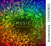 music background with colorful...   Shutterstock .eps vector #1196963812