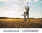young american football player... | Shutterstock . vector #1196968885