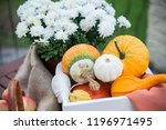 autumn festival decoration with ... | Shutterstock . vector #1196971495