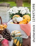 autumn festival decoration with ... | Shutterstock . vector #1196971498