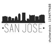san jose california skyline... | Shutterstock .eps vector #1196979688