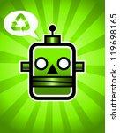 vector illustration of a green... | Shutterstock .eps vector #119698165
