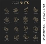 vector icon and logo for nuts... | Shutterstock .eps vector #1196984785