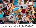above aerial view of group of... | Shutterstock . vector #1196986168