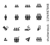 people icons  work group team... | Shutterstock .eps vector #1196987848