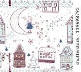 magic winter night seamless... | Shutterstock .eps vector #119698792