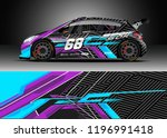 car wrap design vector. graphic ... | Shutterstock .eps vector #1196991418