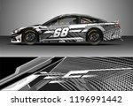 car wrap design vector. graphic ... | Shutterstock .eps vector #1196991442