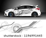 car wrap design vector. graphic ... | Shutterstock .eps vector #1196991445