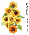 large bouquet of autumn yellow... | Shutterstock . vector #1197000472