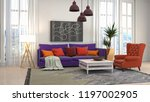 interior of the living room. 3d ... | Shutterstock . vector #1197002905